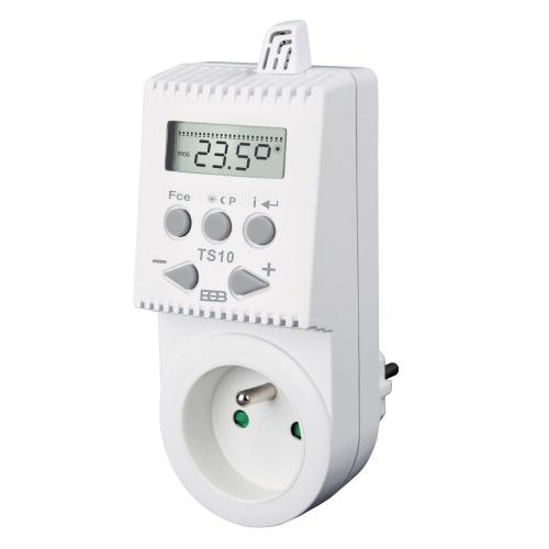 Zásuvkový termostat TS10 programovatelný