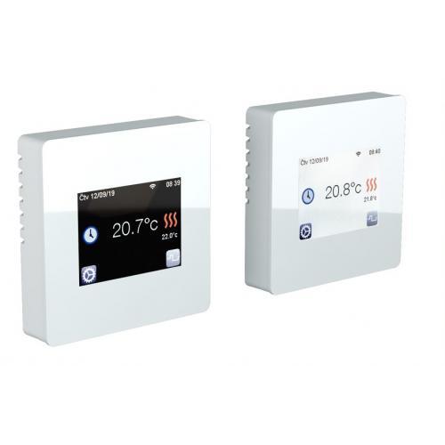 Dotykový termostat TFT wifi bílý